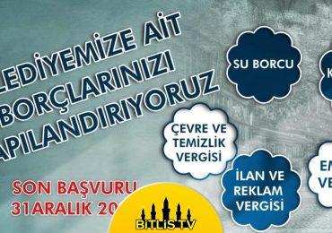 Bitlis Belediyesi Borç Yapılandırmalarının Başladığını Duyurdu