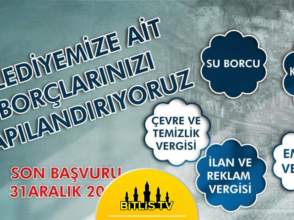 Bitlis Belediyesi Yapılandırmaların Başladığını Duyurdu