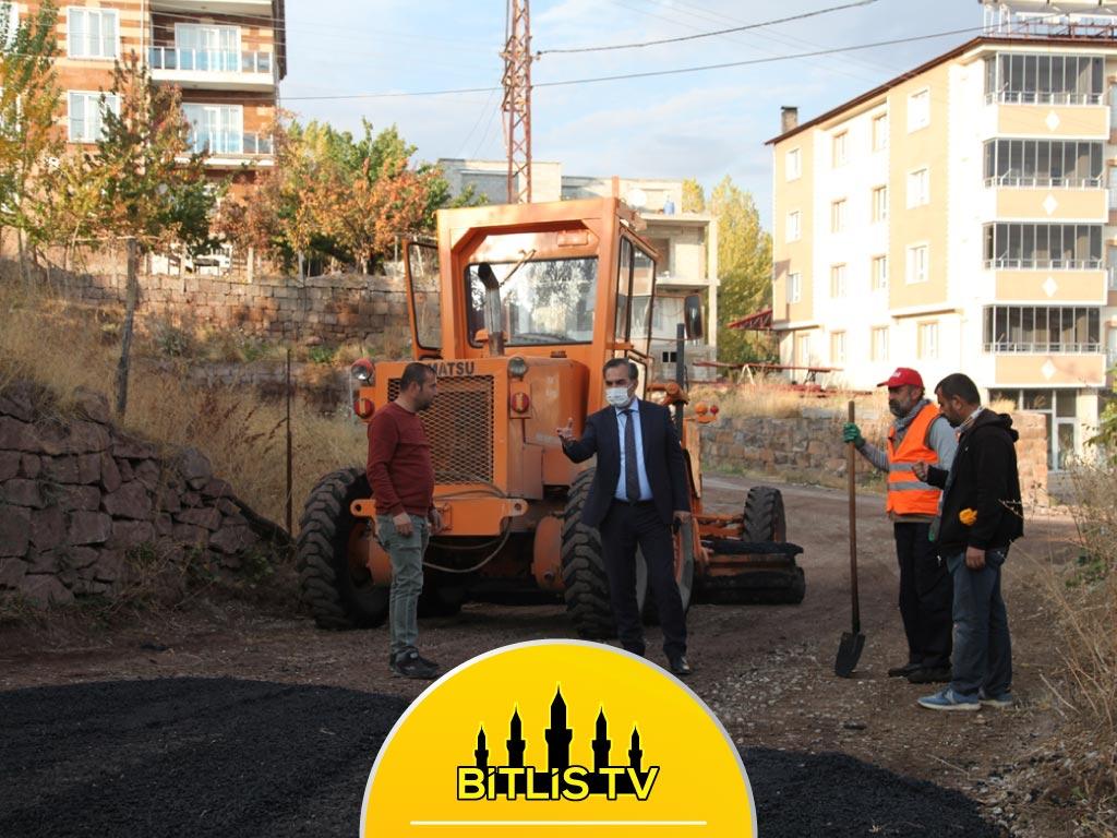 Ahlat Belediyesi'nin Yol Çalışmaları Devam Ediyor