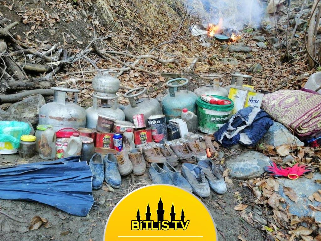 Bitlis'te Sığınakta Bulunan Malzemeler İmha Edildi