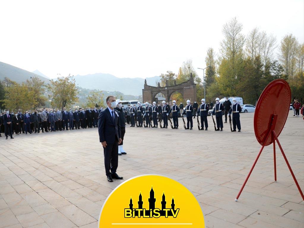 Büyük Önder Atatürk 10 Kasım'da Bitlis'te Anıldı